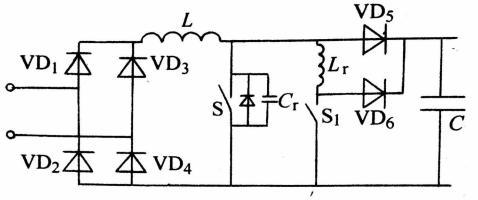 该电路仍属于升压型电路,所以输出电压应高于输入线电压峰值.