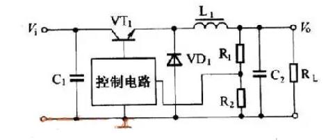 直到电感电流在rs上的压降等于比较器设定的闽值电压时,双稳态电路