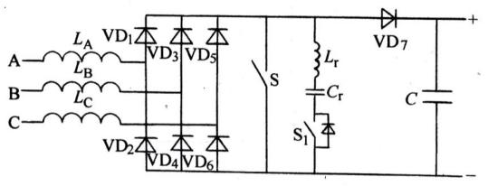 图8 三相6开关pfc电路