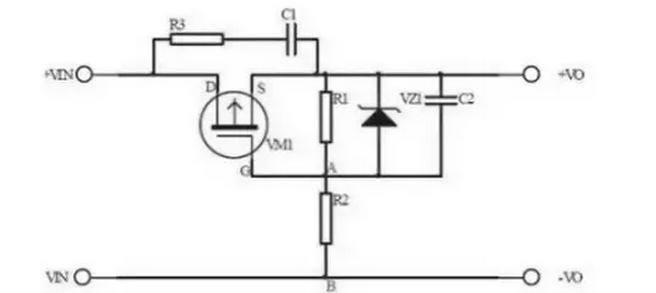 pmos管接在电源的正极,栅极低电平导通.