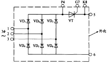 圖1 模塊內部電連接原理圖