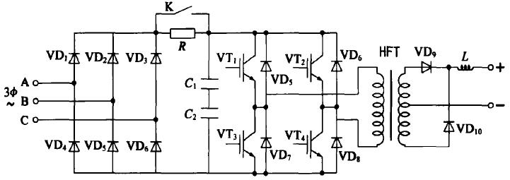 圖4 高須逆變壞機電原理圖