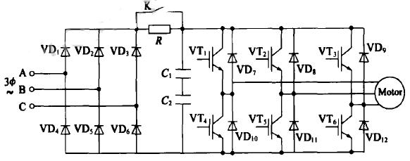 根据三相整流桥电路共阳和共阴的连接特点, fred芯片采用三片是正烧即