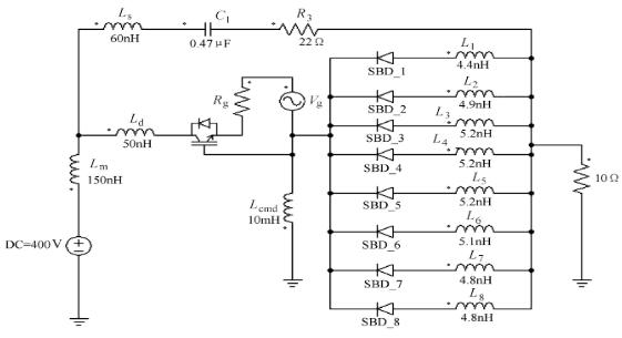 图2 最坏情况下双脉冲开关分析模型